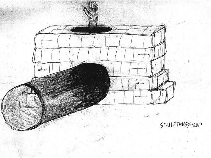 philomela sketch of bed